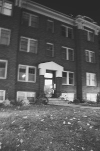 A (blury) Photo of My Old Apartment Building