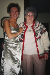 Grandma and I before Prom 2005